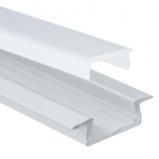 AL-P003 - 2M Aluminum Profile White Finish Recessed
