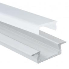AL-P003 - 2M Aluminum Profile White Finish Recessed