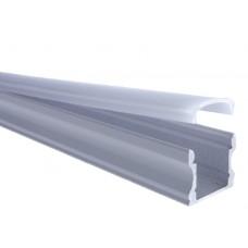 AL-P004 - 2M Aluminum Surface Profile White Finish (Deep)
