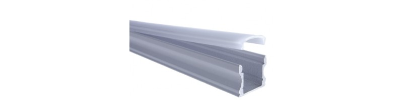 AL-P004 - 2M Aluminum Surface Profile White Finish (Deep)